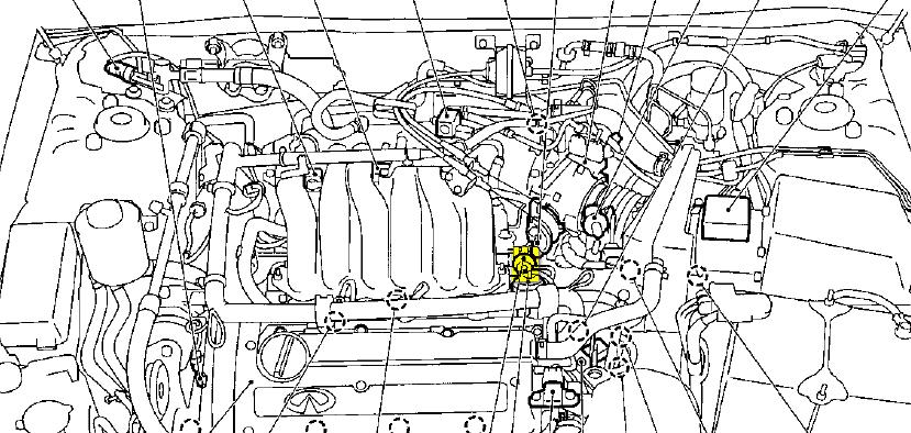 nissan maxima fuel pressure regulator location