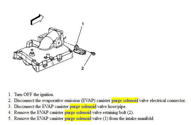 canister purge valve location 2007 chevy equinox