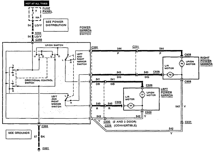 ford power mirror switch wiring diagram  ford  auto wiring