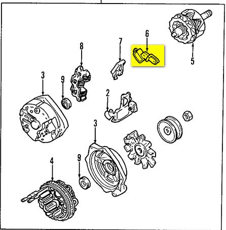 Marine Tachometer Diesel Alternator in addition Alternator Battery Drain moreover Cat 5 Wiring Diagram Pdf furthermore T18913824 Starter relay 2003 murano moreover How To Rebuild Alternator. on alternator internal wiring diagram