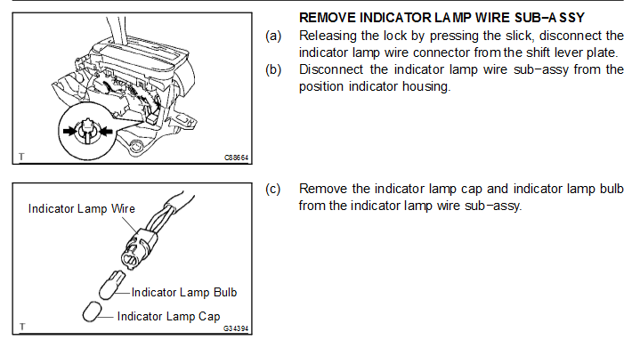 how to change the gear shifter light on the toyota camry 2005 please note that continued poor accept rate now leads to experts ignoring future questions you post as they realize that they will not be paid for their