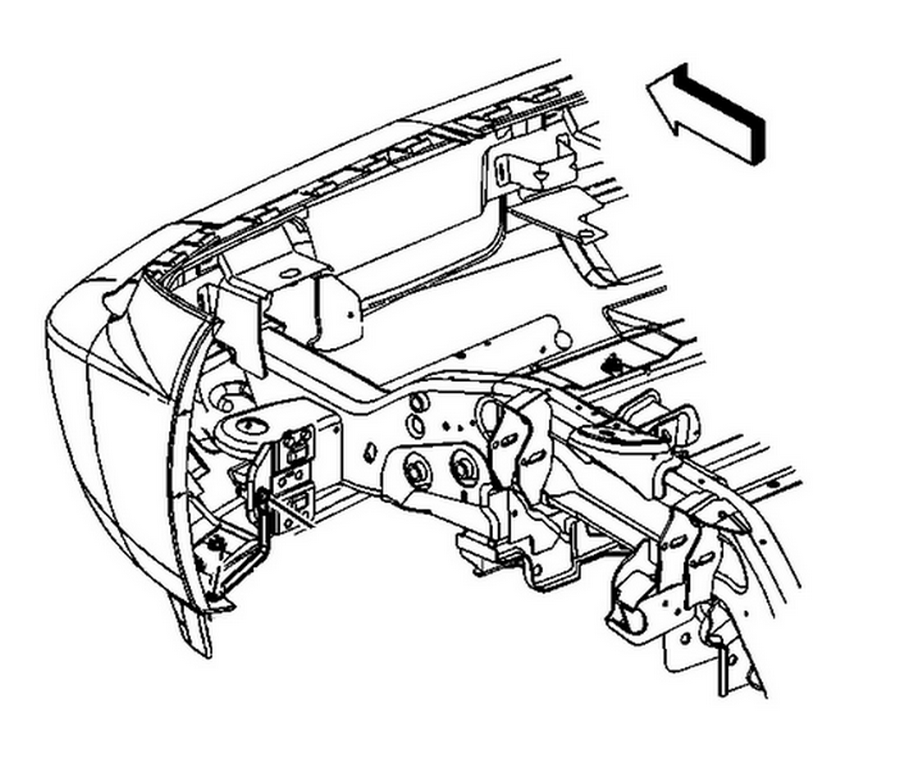 Need A Schematic For All The Brackets For The Front Bumper