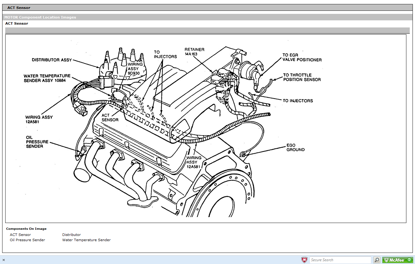 1994 Nissan Pathfinder Engine Diagram together with Oxygen sensor location likewise 2000 Ford Taurus Cooling System Diagram likewise 281528352684 in addition P 0900c15280217cf2. on 1995 ford taurus engine diagram