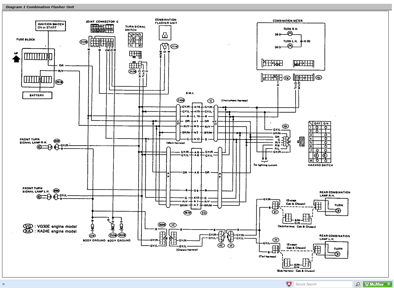 1990 nissan 240sx wiring relay diagram html