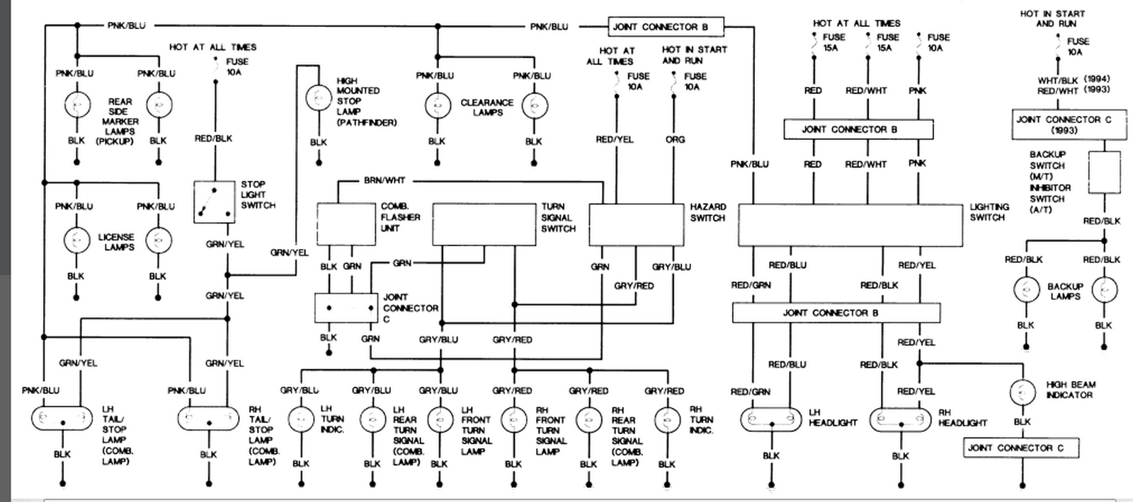 Nissan Navara D21 Radio Wiring Diagram : Nissan d wiring diagram for taillight assembly