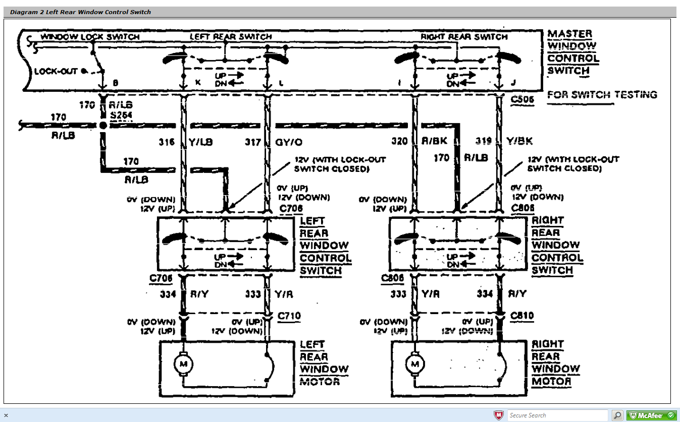 1993 lincoln town car wiring diagram i needed to see where i can find a complete power window ... 1990 lincoln town car wiring diagram #5