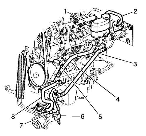 7pvlv Replace Power Steering Hose Chevy Silverado on 2002 chevy cavalier wiring diagram schematic