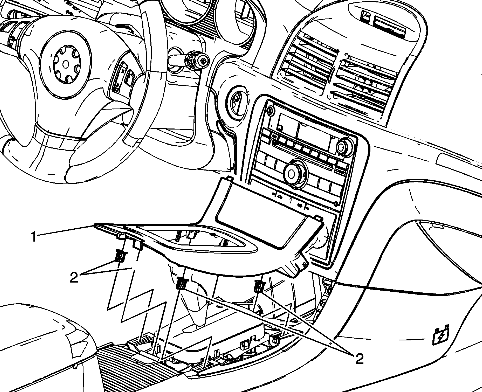 service manual  removing center console 2008 saturn aura