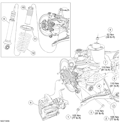 2006 Ford Five Hundred Rear Suspension on 2006 lincoln zephyr fuse diagram