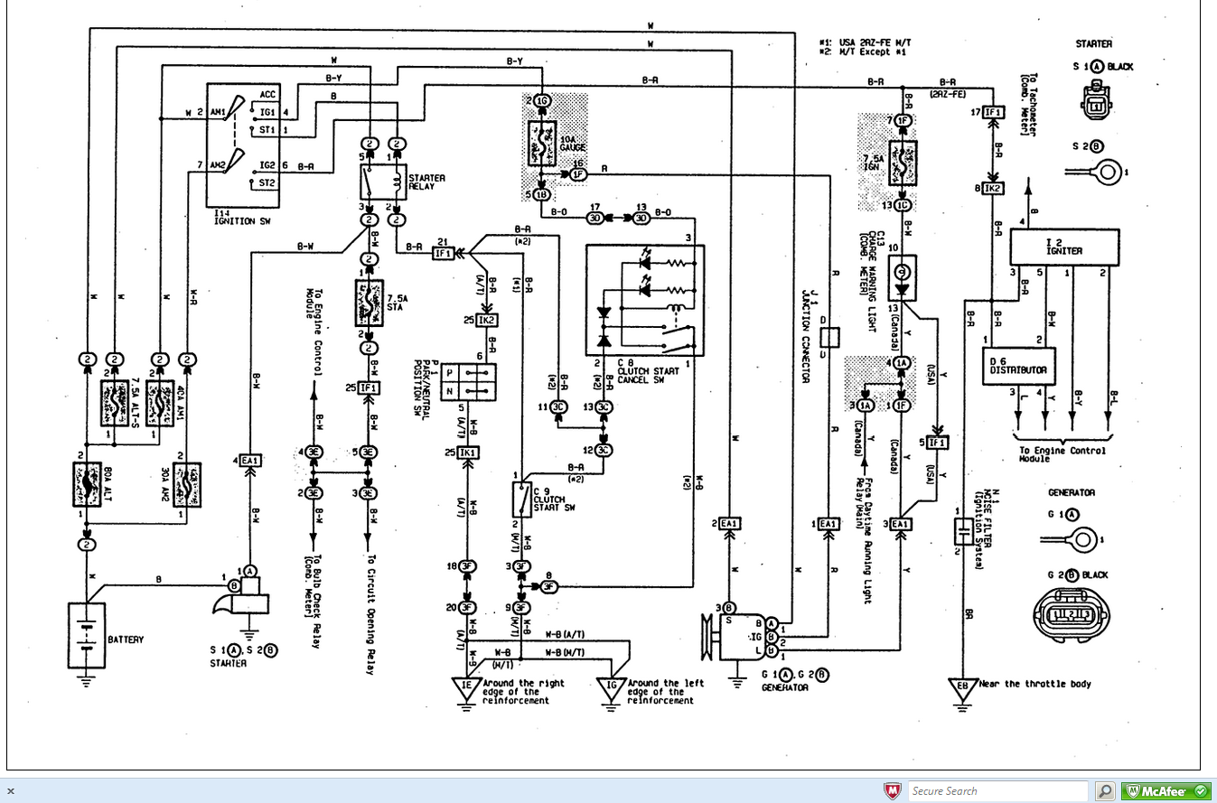7qwya Ta a Hi I 1997 Ta a 2 4l Drove Around Town on toyota tacoma wiring harness diagram
