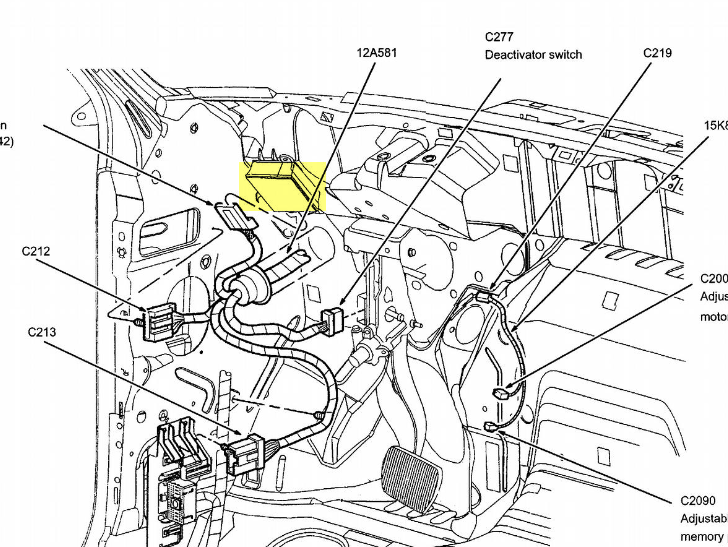 ford taurus radio wiring diagram  ford  free engine image
