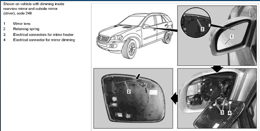 2006 ml350 passenger side mirror has popped out how to i for 2006 mercedes benz ml350 problems