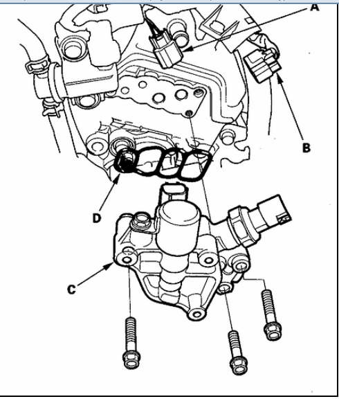 8d78y Odyssey Spool Valve Assembly Leaking  mon on 2001 honda accord vtec engine diagram