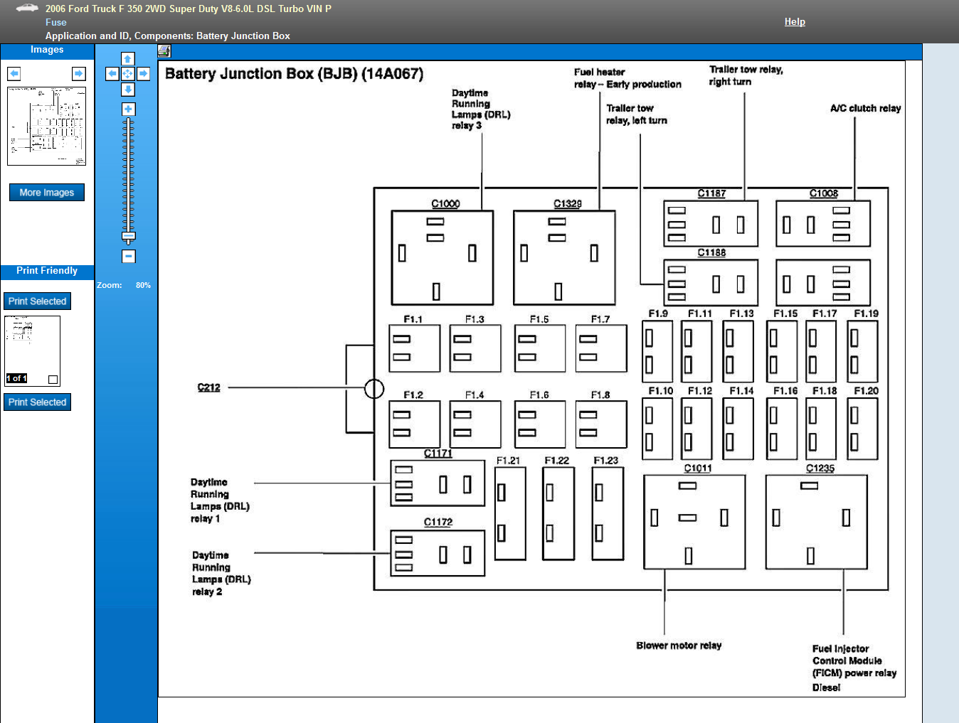 i need a diagram of the fuse box on my 2006 f350 diesel. Black Bedroom Furniture Sets. Home Design Ideas