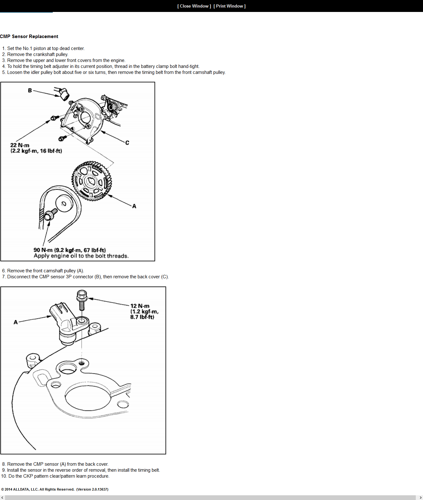 Where Is The Cam Sensor Located On My 2005 Acura Tl 3.2