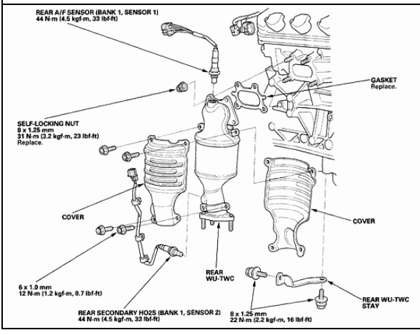 712549 Oxygen Sensors as well Chevrolet Avalanche Truck Parts Schematics together with 2007 Chrysler 300c Fuse Box Trunk likewise 2001 Acura Tl Transmission Diagram in addition Replace Evap Canister On A 2009 Ford F450. on 2004 acura rl engine