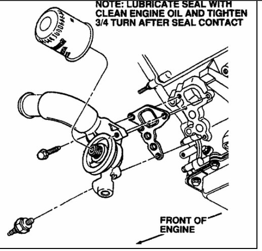 service manual  1997 lincoln town car oil filter housing