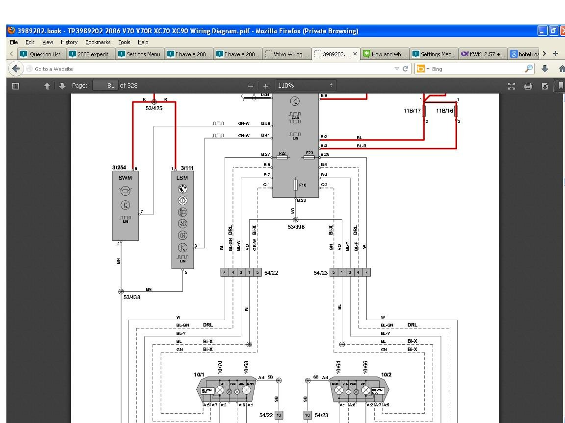 Volvo Xc90 Headlight Wiring Diagram Page 4 And S2000 Harness 2006 S40 Honda Headlights