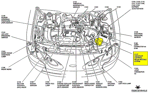 7un2h 99 Escort Auto 2 0liter It Seems Lose Prime on 1994 Mercury Sable Fuse Box Diagram