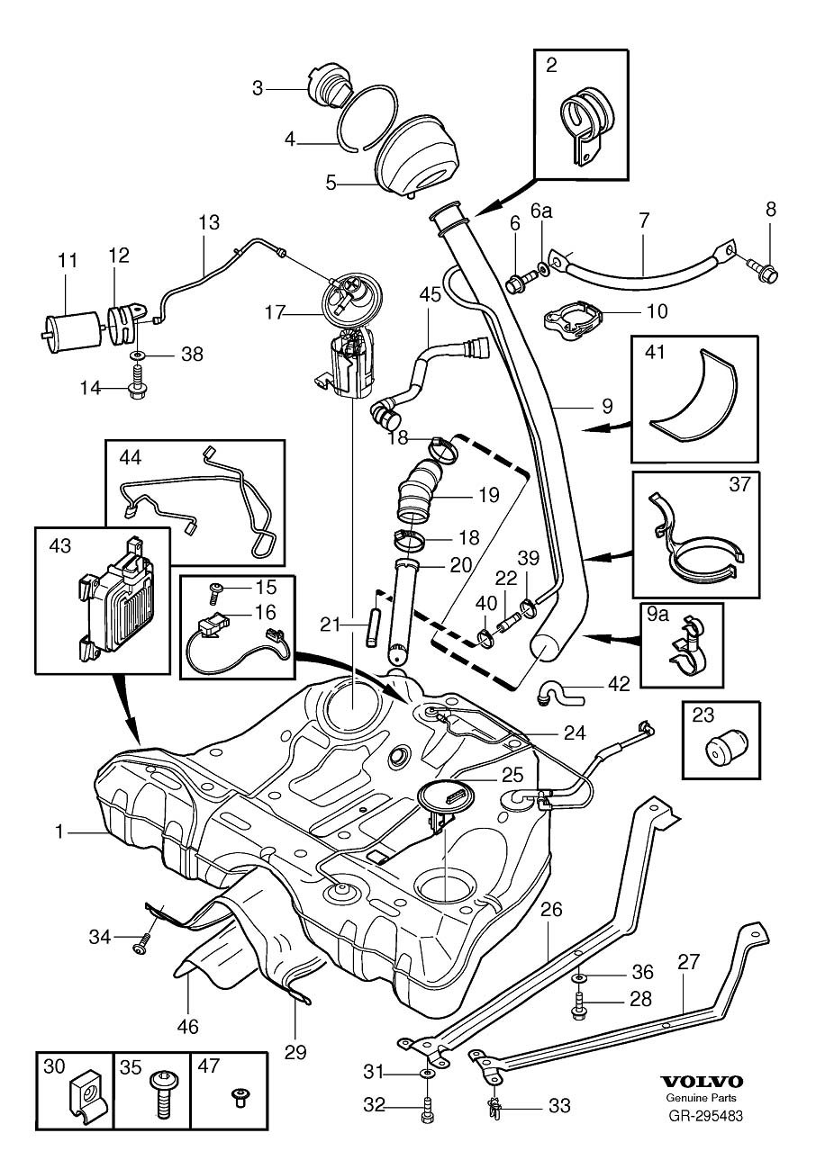 Where Is Fuel Pump Located On 2004 Volvo S60  I Ve Looked