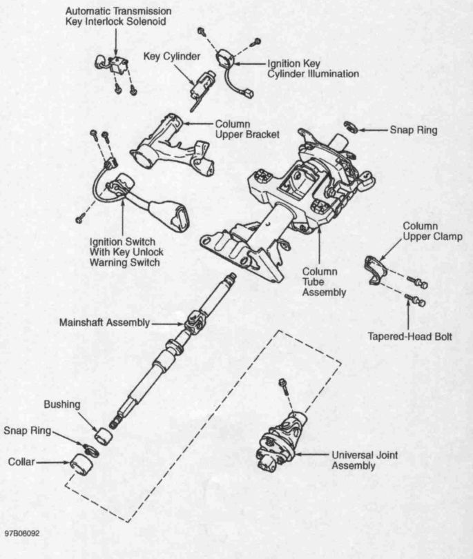 tacoma ignition switch wiring diagram tacoma horn wiring