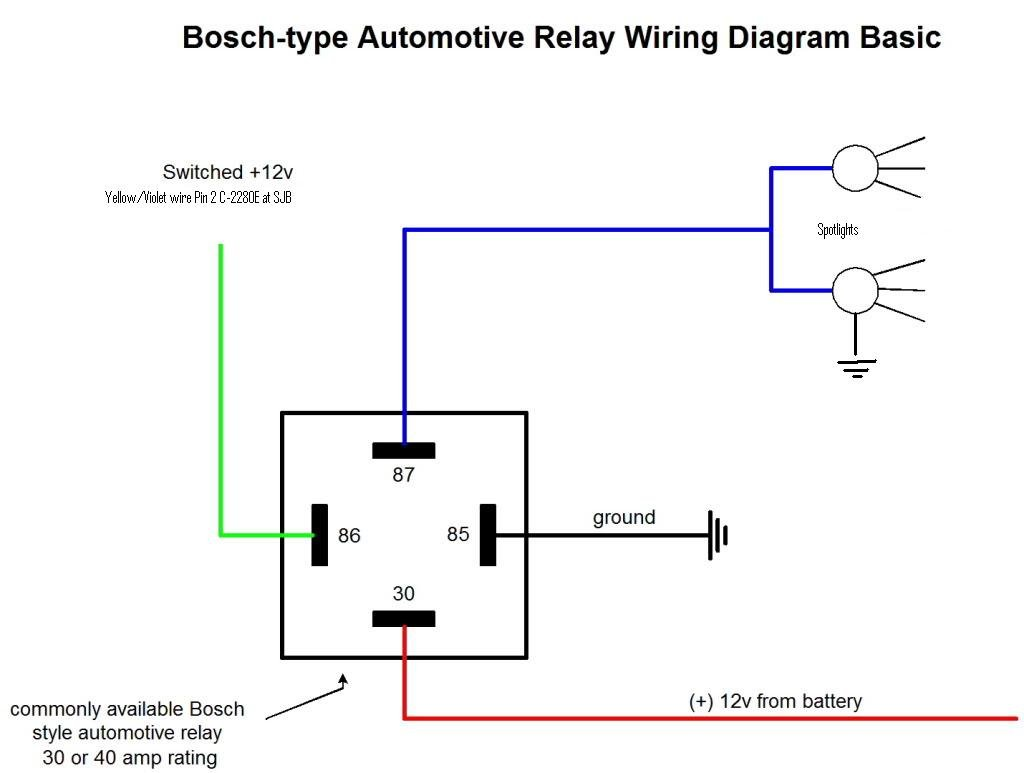 Basic Relay on Basic Headlight Wiring Diagram For Car