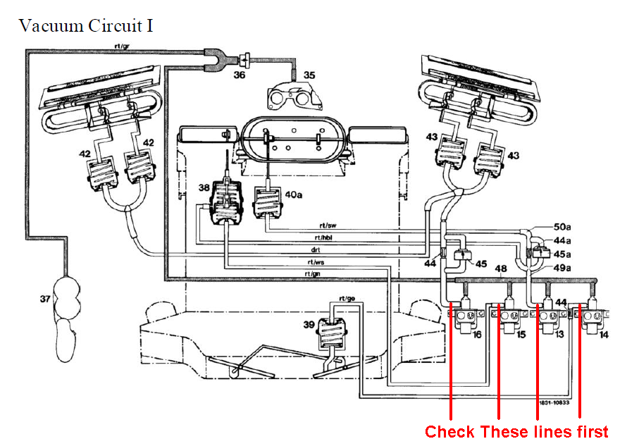 mercedes w126 vacuum diagram