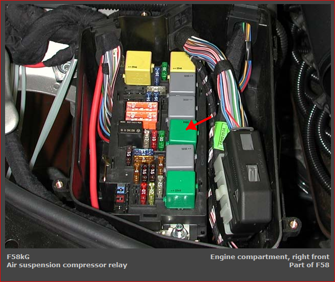 2008 GL 550 airmatic relay location