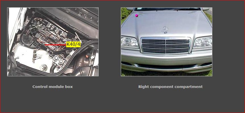 Capture on Mercedes Fuel Pump Relay Location