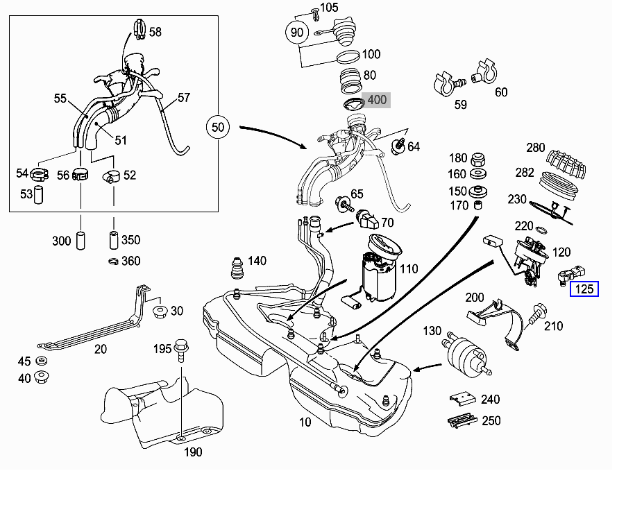 Mercedes Fuel Tank Pressure Sensor Pictures To Pin On