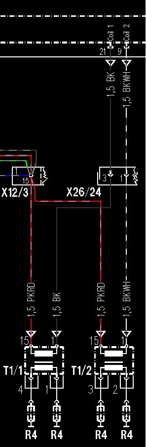 c220 this is a challenging problem if a mb expert can help if you have no voltage at the terminal block the key on you either have no power getting to the coils on the pink red wires or you have two bad coils