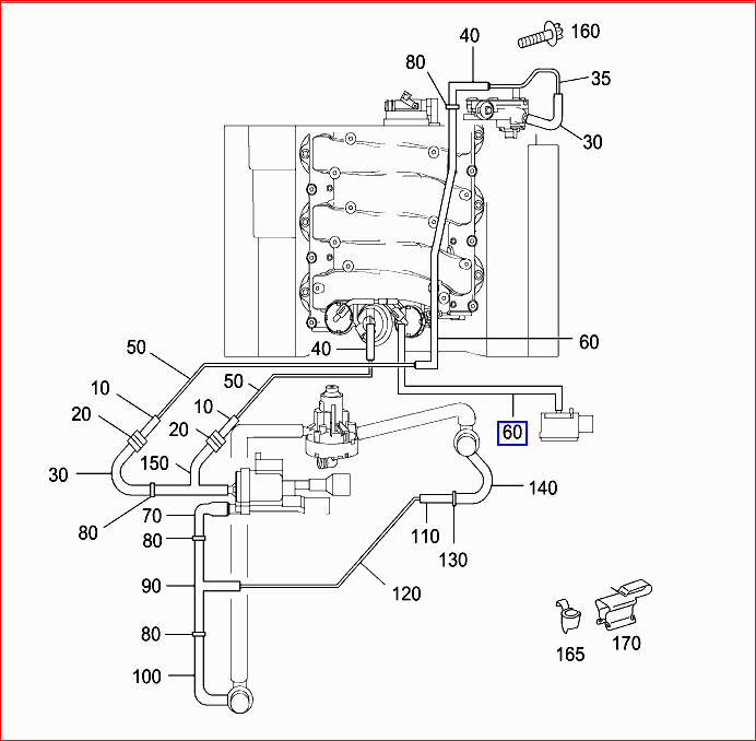 8qg04 2006 C230 2 5 V 6 Replaced Intake on Mercedes C Vacuum Hose Diagram