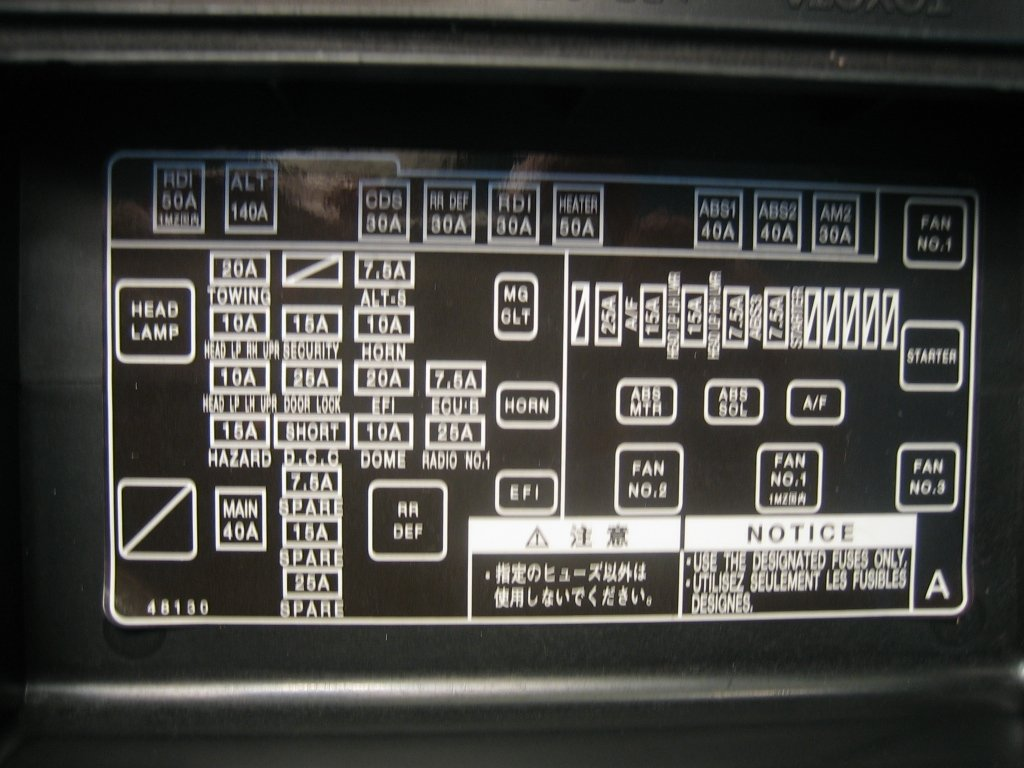 in my fuse box for 2003 highlander there is a missing relay graphic graphic graphic