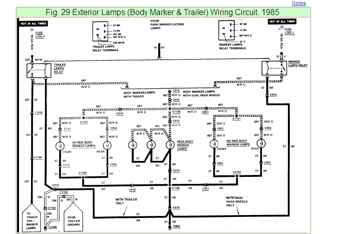 97 f250 trailer wiring diagram 2010 f250 trailer wiring diagram i have 1985 ford f250 oem trailer wiring kit. the trailer ...