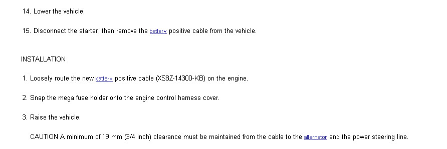 Ford wiring harness recall t one