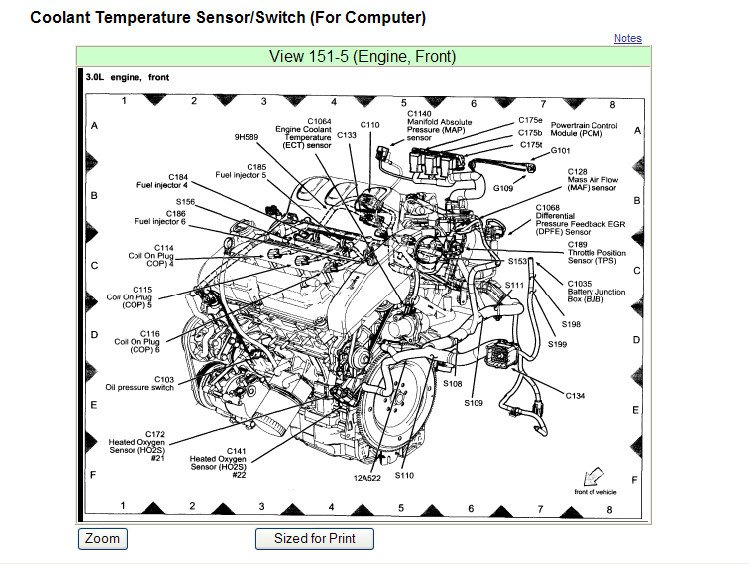 Geo Tracker Fuel Line From Pump To Filter also 2015 Tundra Wiring Diagram besides 5kc07 Mitsubishi Vereada Replace Timing Belt Vereada V6 3lt additionally Ford 3 0l Engine Diagram Thermostat likewise Dodge Ram Oil Pressure Sending Unit Location. on ford f 150 knock sensor replacement
