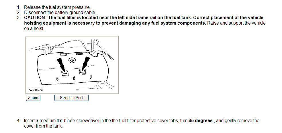 2003 Ford Expedition Fuel Filter Location