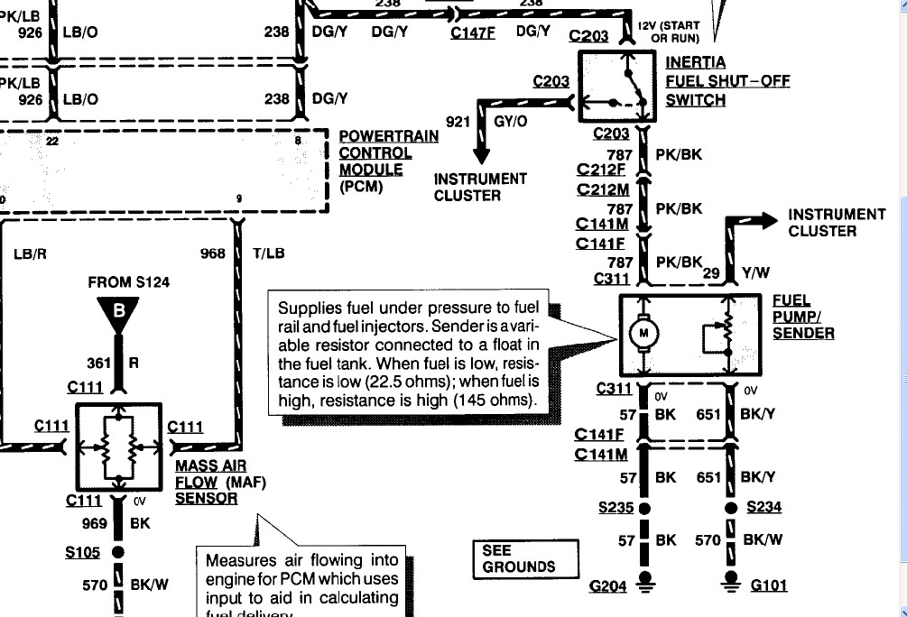 2005 ford explorer fuel pump wiring diagram 1992 ford explorer fuel pump wiring system