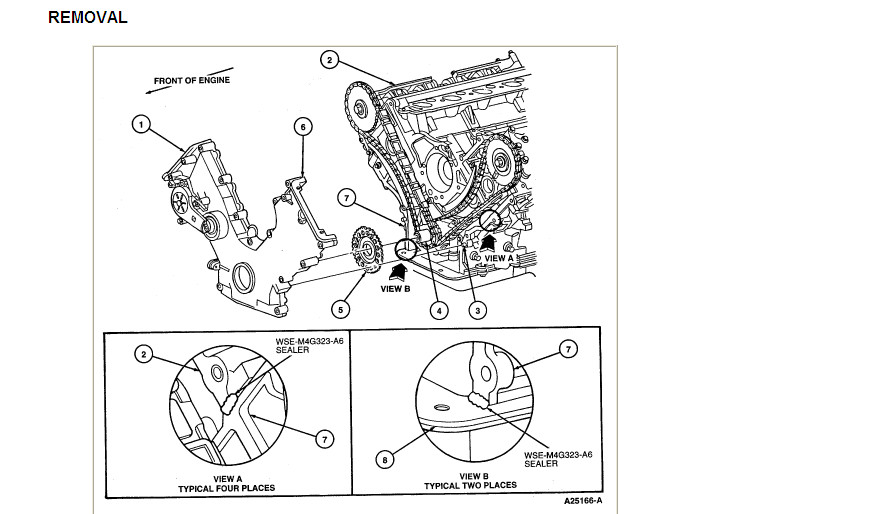 Lincoln Timing Belt : Service manual timing belt replacement lincoln town
