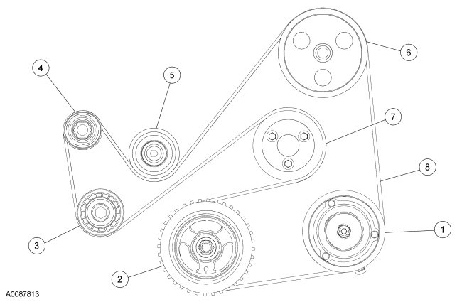 A on Ford Escape Serpentine Belt Diagram
