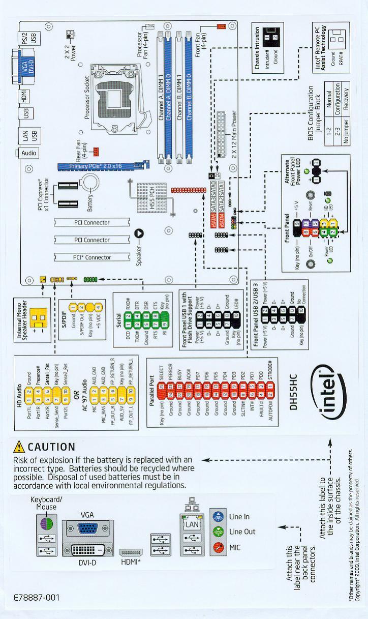 Intel dh55hc pci serial port