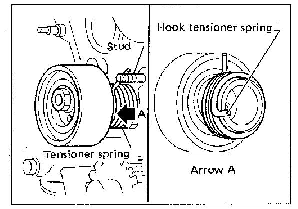 what is the correct way to install a timing belt tensioner