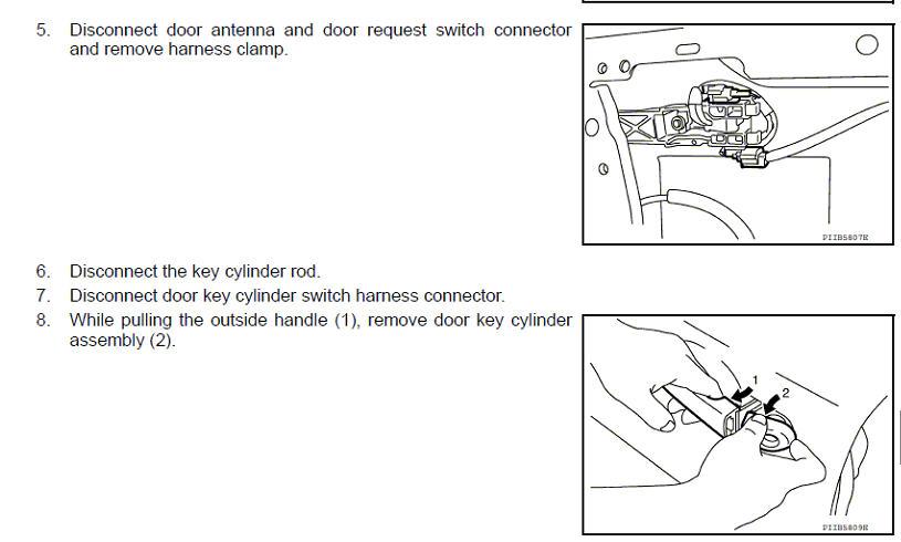 2008 2013 nissan rogue door handle replacement