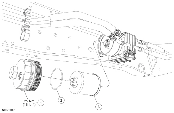 03 f350 6 0 fuel pump location