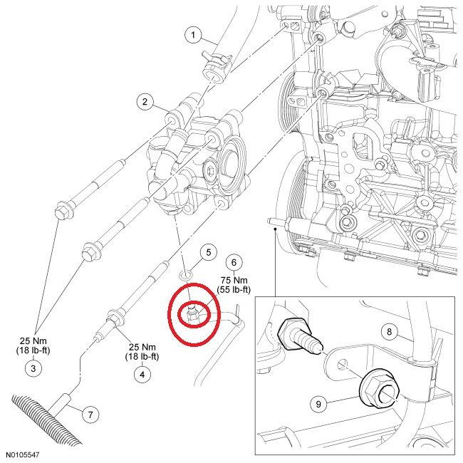 how to remove lower pressure power steering hose on 2010