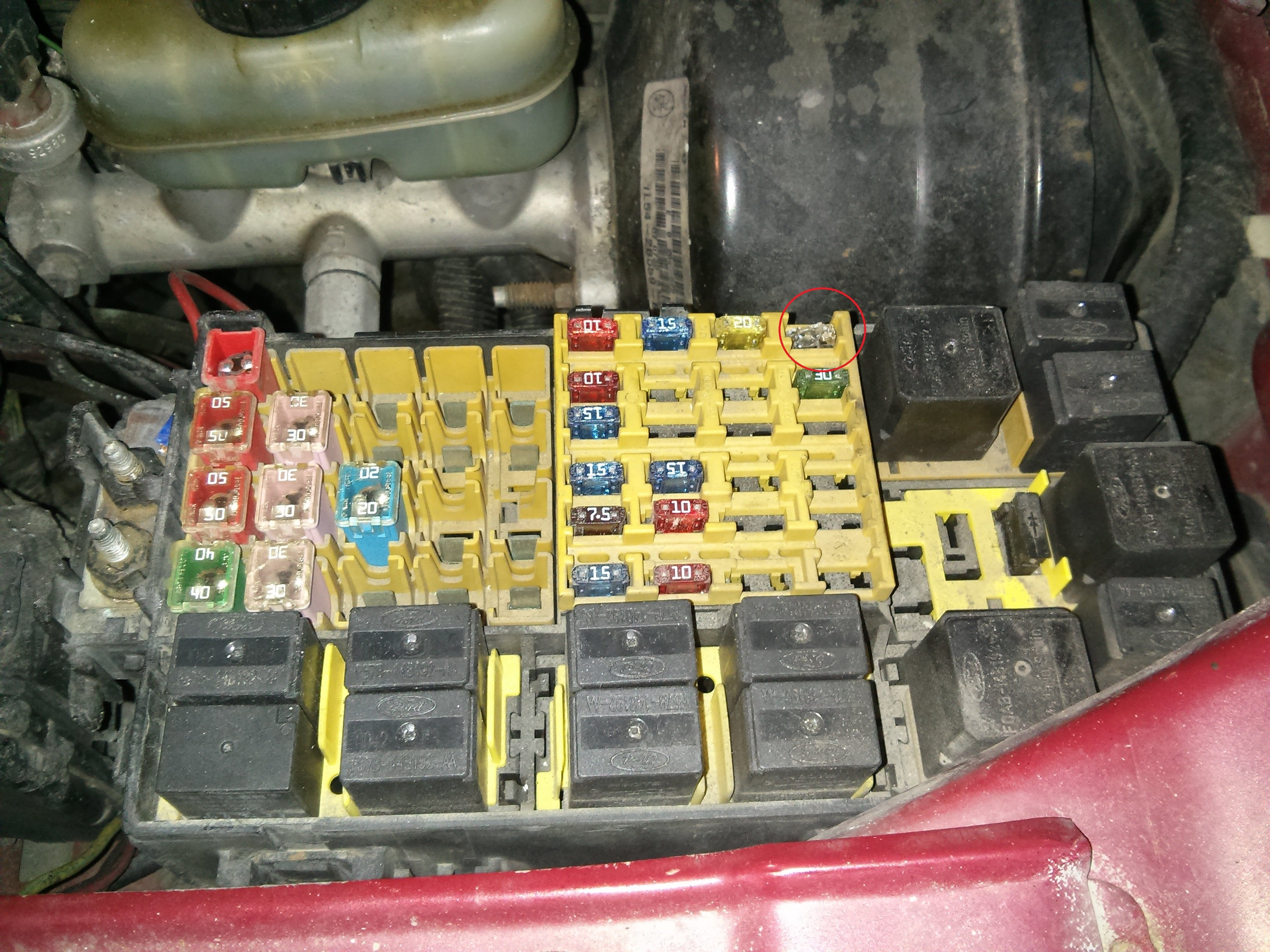 2001 explorer sport battery light on and not charging ...