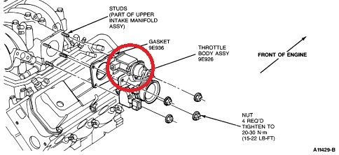 RepairGuideContent also T24773775 Need diagram replace serpentine belt further Solved Serpentine Belt Diagram For Ford Windstar Fixya furthermore Discussion T50106 ds561731 moreover 1999 Ford Ranger 2 5l Error Code P1401 Evp Voltage Intended For 2000 Ford Ranger Engine Diagram. on ford 4 6 ltr engine diagram