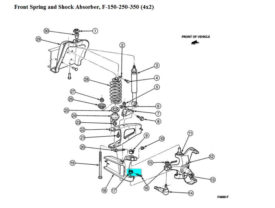 94 e350 need torque specs on lower ball joint and top ball