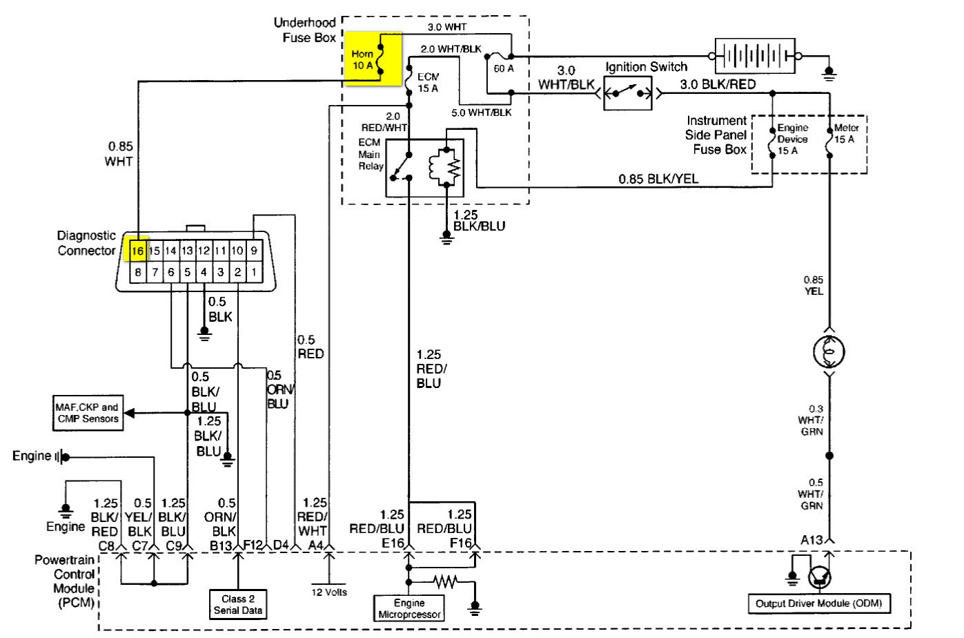 may i have the pin diagram for thr obd2 connector to test 03 dodge stratus  fuse box Dodge Stratus RT MPG