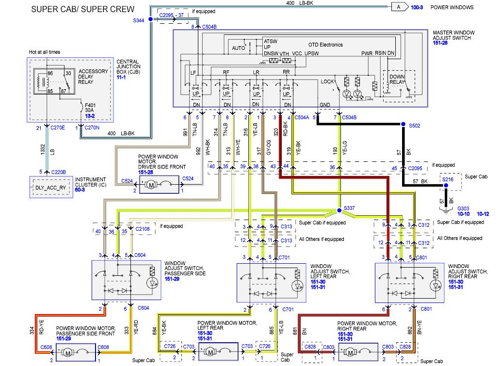 power window wiring diagram ford f150   37 wiring diagram